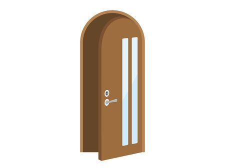 Illustration of an open door Standard-Bild - 127763317