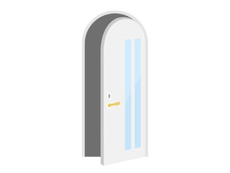 Illustration of an open door Standard-Bild - 127763328