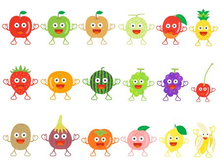 Fruit Character Illustration