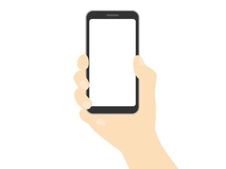 Uno smartphone in mano