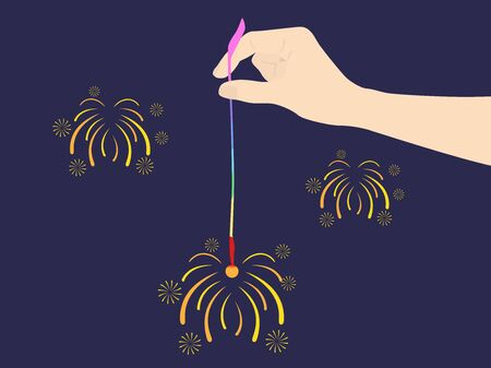 Illustration of incense fireworks
