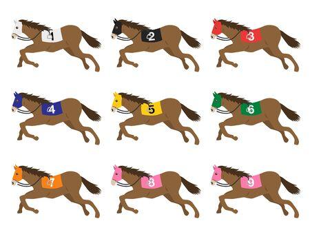 競走馬のイラスト ベクターイラストレーション