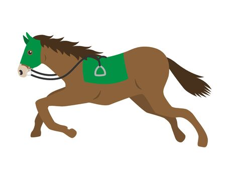 Illustration of a racehorse Ilustração