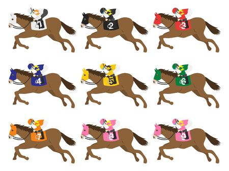 Illustration of a racehorse 写真素材