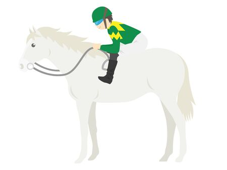 Illustration of a racehorse Stock Photo