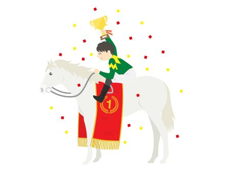 Illustration of the horse that won the championship Stock Photo