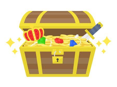 Treasure Chest Illustrations Illustration