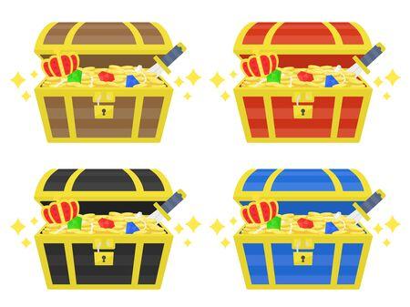 Treasure Chest Illustrations  イラスト・ベクター素材
