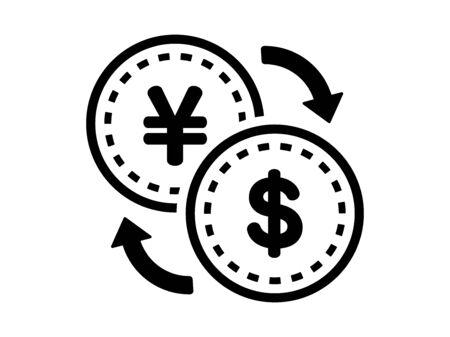 Exchange of yen and dollar