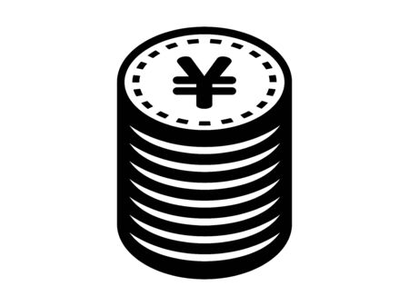 Stacked circle coins
