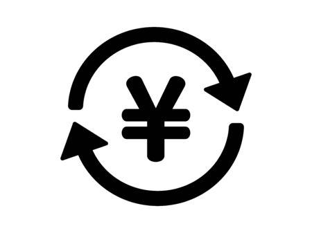 Icon to swap circles Фото со стока