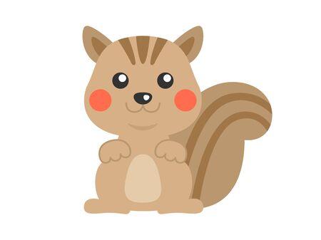 Illustration of a squirrel Reklamní fotografie - 132045799