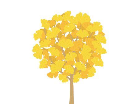 Ginkgo Tree Illustration Reklamní fotografie - 132046549