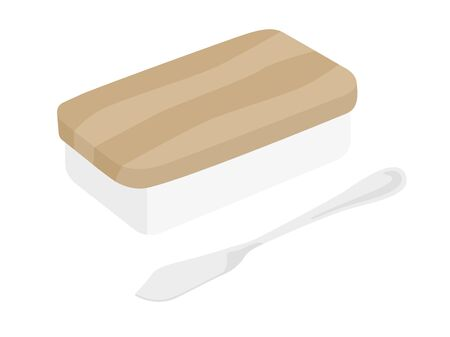 Butter Case Illustration Zdjęcie Seryjne