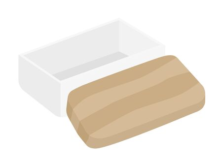 Illustration of the empty butter case