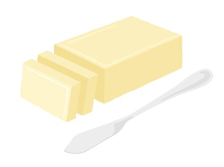 Butter and Butter Knife Illustration