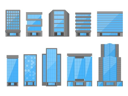 Office Building Illustration Set