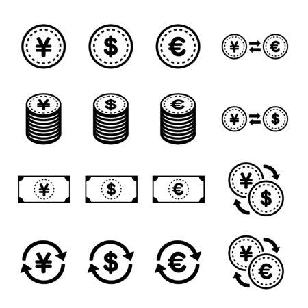 Financial Icon Illustration Set
