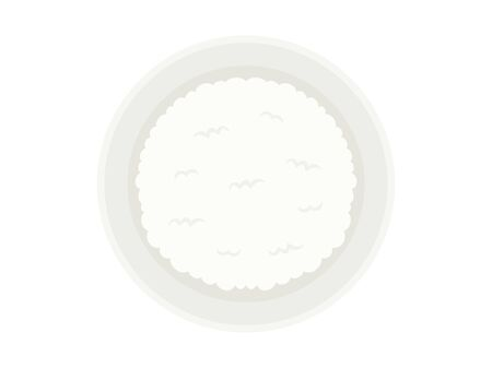 Illustration of white rice Ilustrace