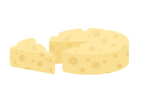Illustration of a cheese 일러스트