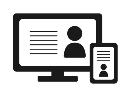 Icon illustrations for computers and tablets