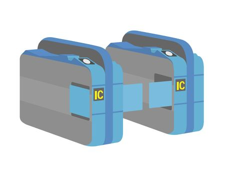 Illustration of automatic ticket gate Banco de Imagens - 133453688