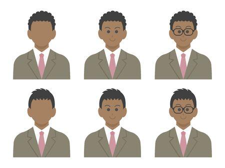 Black Businessman Icon Set
