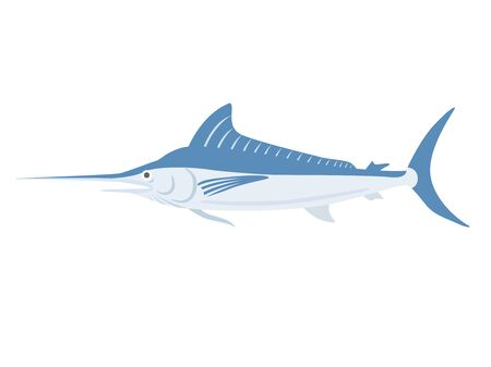 Illustration of the bluefin tuna