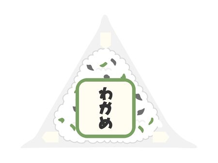 Illustration of onigiri at a convenience store