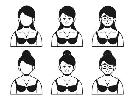 Illustration of a woman in underwear
