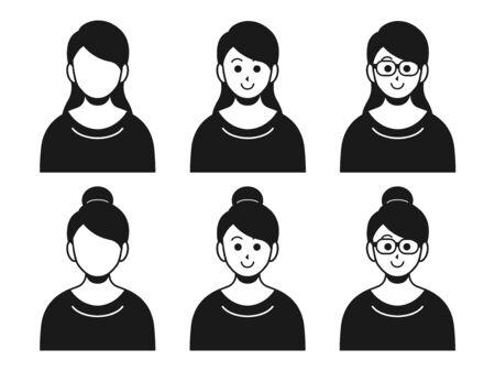 Illustration of a woman in plain clothes Ilustração Vetorial