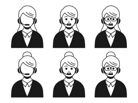 Illustration of a female operator