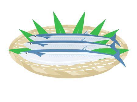 Illustration of autumn swordfish Иллюстрация