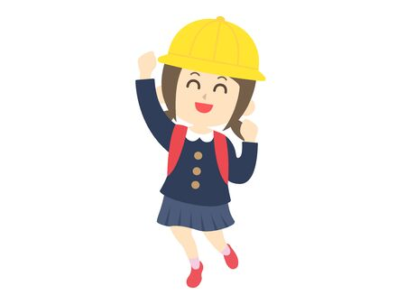 Elementary school girl happy