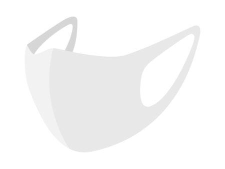 Illustration of a white mask
