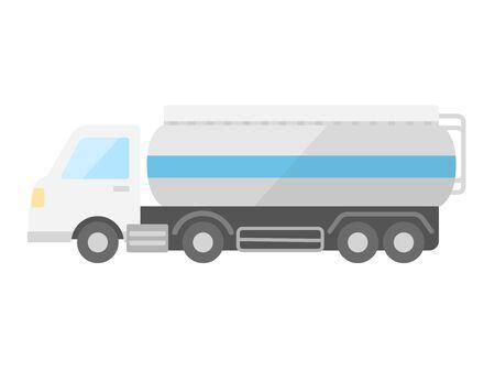 Illustration of tank truck