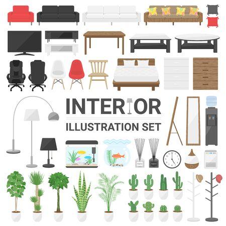Interior illustration set