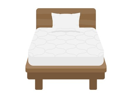 Illustration of a single bed