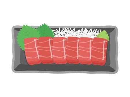 Illustration of salmon sashimi Ilustrace