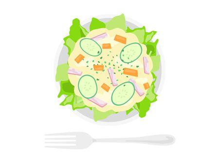 Potato Salad Illustration Иллюстрация