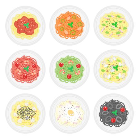 Pasta Illustration Set Vector Illustratie