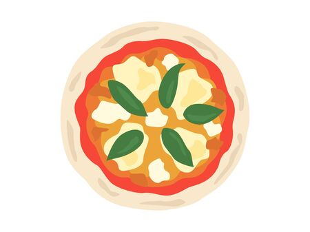 Margherita pizza Stock Illustratie