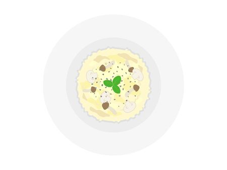 Illustration of cheese risotto