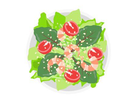 Vegetable Salad Illustration