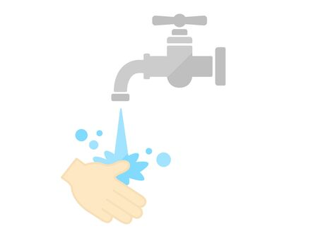 Hand washing illustrations