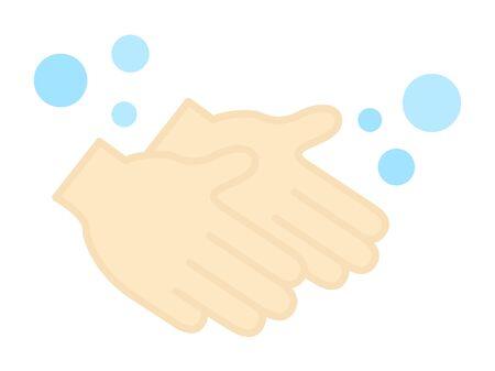 Hand washing icon Standard-Bild - 141687674