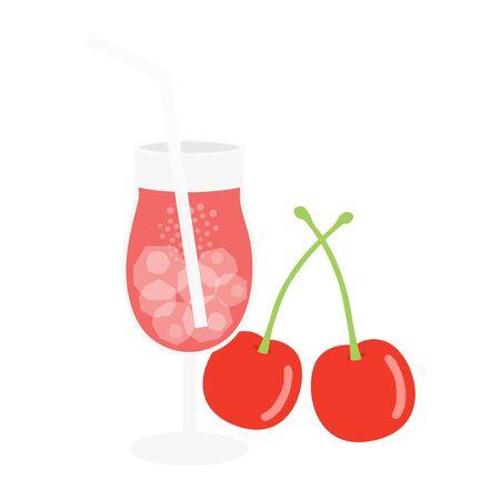 Cherry Juice Illustrations 向量圖像