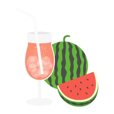 Watermelon Juice Illustrations  イラスト・ベクター素材
