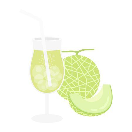 Illustration of melon juice 向量圖像