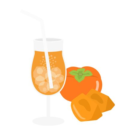 Persimmon Juice Illustration